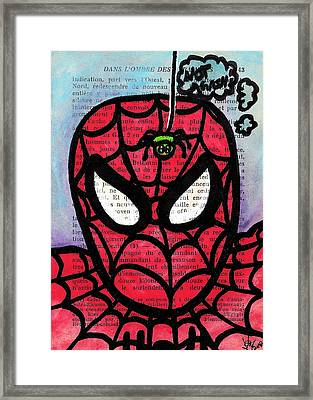 Spider Mr Uh Oh Framed Print by Jera Sky