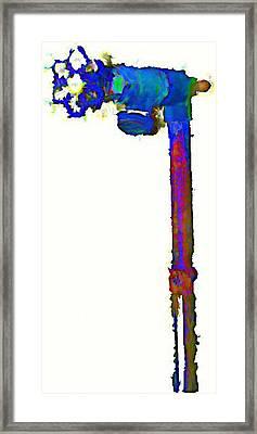 Spigot In Blue Framed Print by J erik Leiff