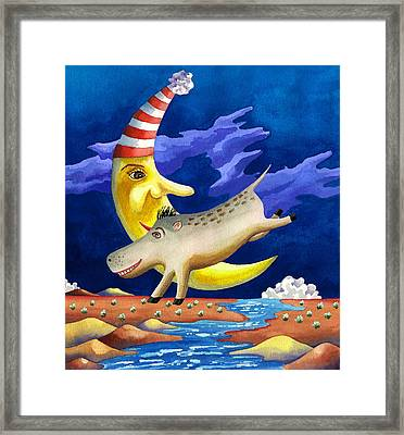 Spike The Dhog Arrives Framed Print by Anne Gifford