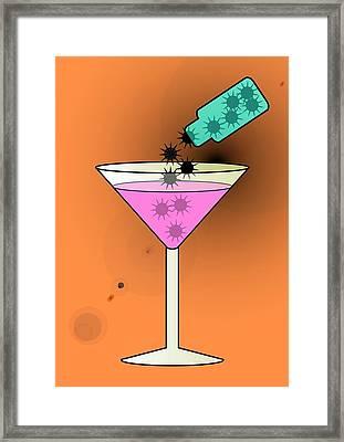 Spiked Drink, Conceptual Image Framed Print