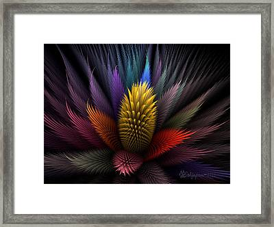 Spiky Botanical Framed Print by Peggi Wolfe