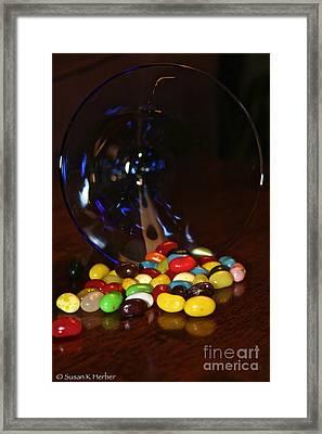 Spilled Beans Framed Print by Susan Herber