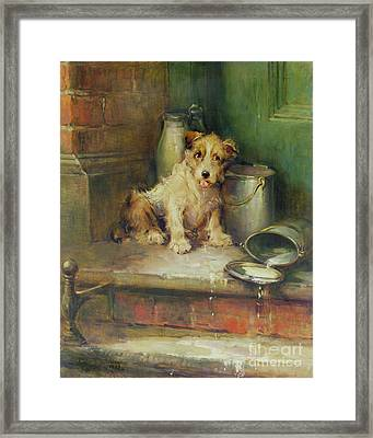 Spilt Milk Framed Print by Philip Eustace Stretton