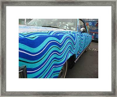 Spin A Yarn Car Framed Print by Kym Backland