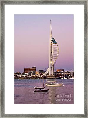 Spinnaker Tower Framed Print by John Basford