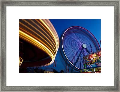 Spinning Framed Print by Edward Kreis