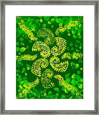 Spinning Greens Framed Print by Farah Faizal