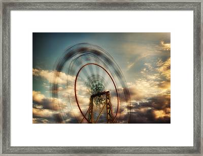 Spinning Framed Print
