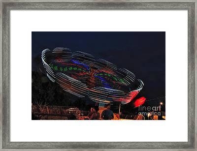 Spinning Lights Framed Print by Kaye Menner