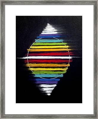 Spinning Merkaba Framed Print