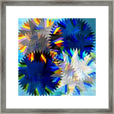 Spinning Saw Framed Print
