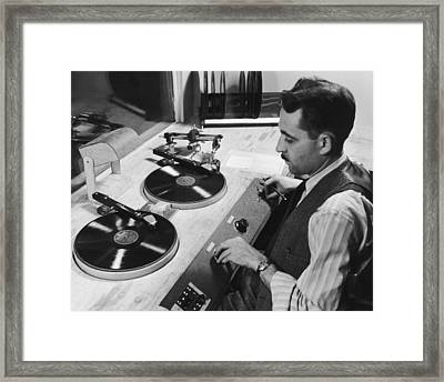 Spinning The Wheels Framed Print by George Enell