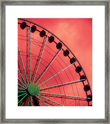 Spinning Wheel  Framed Print by Karen Wiles