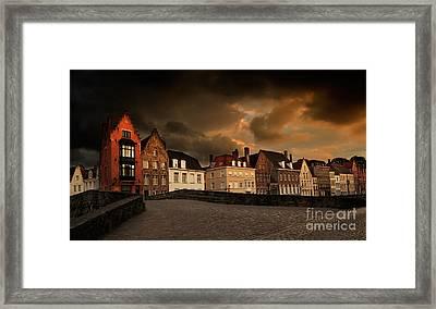 Spinolarei At Dusk Bruges Framed Print