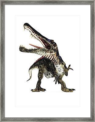 Spinosaurus Dinosaur, Artwork Framed Print by Animate4.comscience Photo Libary