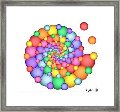 Spiral Celebration Framed Print
