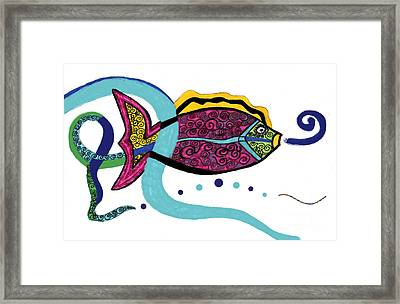 Spiral Fish Framed Print by Christine Perry