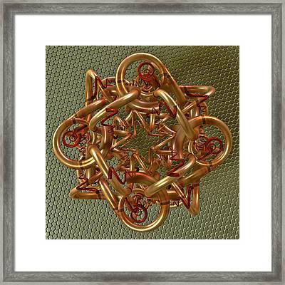 Spiral Jewel I Framed Print by Manny Lorenzo