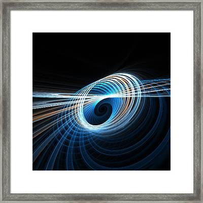 Spiral Framed Print by Kim French