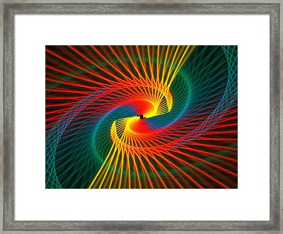 Spiral Rainbow  Framed Print by Kim French