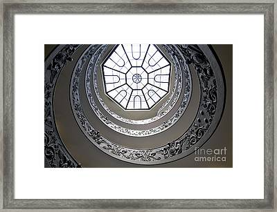 Spiral Staircase In The Vatican Museums Framed Print by Bernard Jaubert