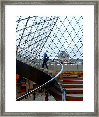 Spirals Within A Pyramid Framed Print by Amelia Racca