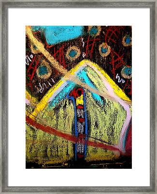 Framed Print featuring the mixed media Spirit House Six by Clarity Artists