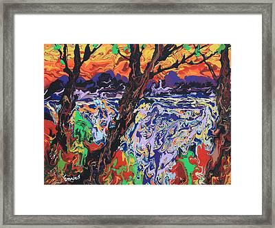 Spirit Lake Framed Print