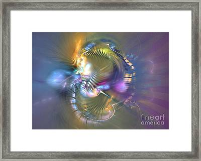 Spirit Of Nobility - Abstract Digital Art Framed Print by Sipo Liimatainen
