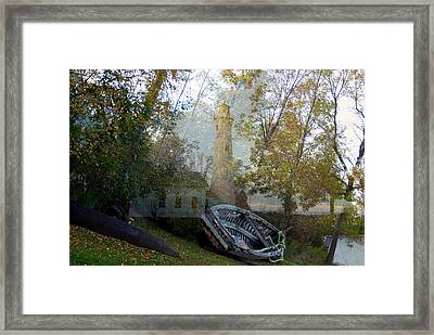 Spirit Of The Lighthouse Framed Print by Gerry Buckel