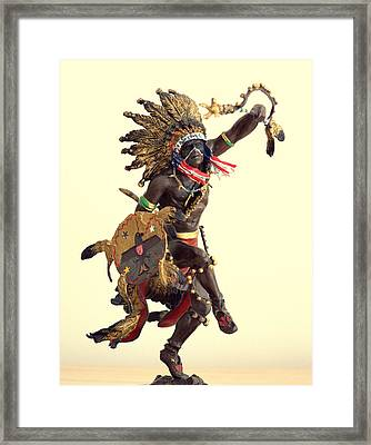 Spirit Of The Thunderbird Framed Print by Aron Chervin