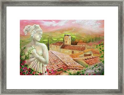 Framed Print featuring the painting Spirit Of Tuscany by Michael Rock