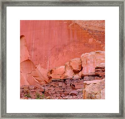 Framed Print featuring the photograph Spirit Wall by Ann Johndro-Collins