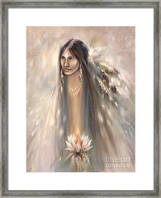 Spirit Woman Framed Print by Charles B Mitchell