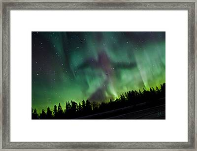 Spirits Of The Northern Nights Framed Print by Steve  Milner
