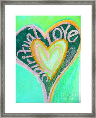 Spiritual Love Framed Print