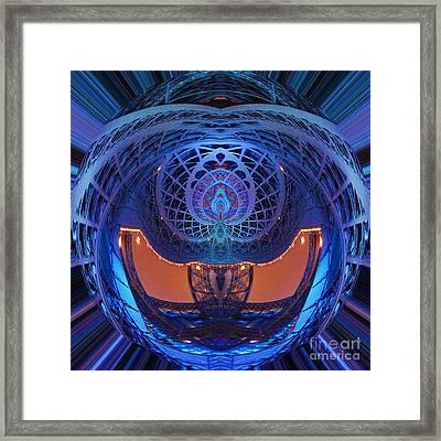 Spirograph Planet Framed Print