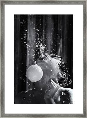Spit Ball Framed Print by Tim Nichols