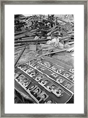 Spitak Earthquake Damage, Armenia Framed Print by Ria Novosti