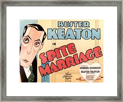 Spite Marriage, Buster Keaton, 1929 Framed Print by Everett