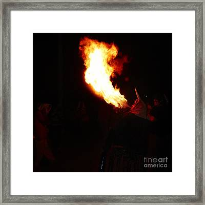 Spittin Fire Framed Print by Agusti Pardo Rossello