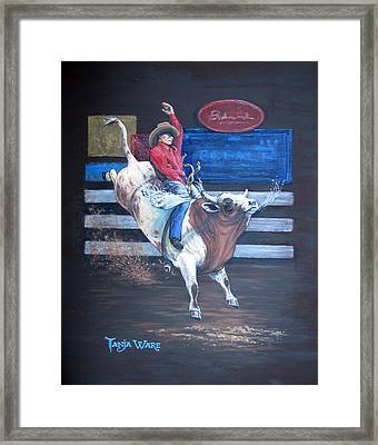 Spitting Bull  Framed Print by Tanja Ware