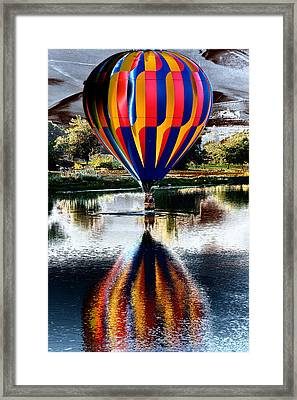 Splash And Dash With A Hot Air Balloon Framed Print by David Patterson