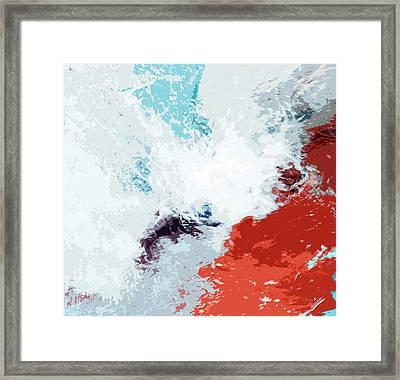 Splash Framed Print by Glennis Siverson