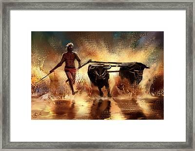 Splash Framed Print by Kiran Kumar