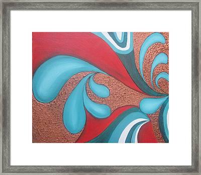 Splash Of Nature Framed Print by Rejeena Niaz