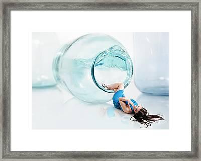 Splash Out Framed Print by Roman Rodionov
