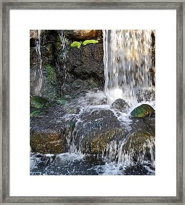 Splashing Water Falls Framed Print by Kirsten Giving