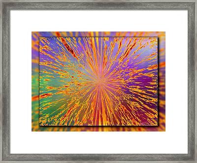 Splattered Framed Print by Tim Allen