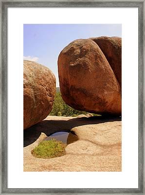 Split Bouuder Framed Print by Marty Koch